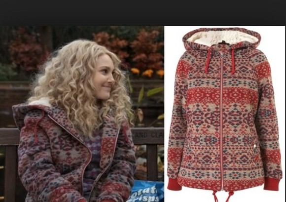 carrie bradshaw the carrie diaries jacket woolen carrie diaries aztec wool hooded aztec hoodie hooded jacket furlined