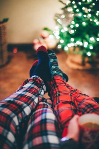 pajamas christmas pajamas christmas holiday season holiday gift socks