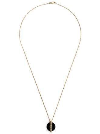 women necklace pendant black jewels