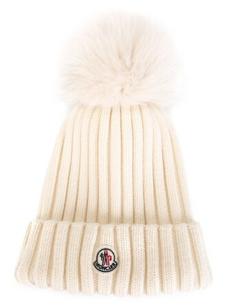 fur fox women beanie nude wool hat