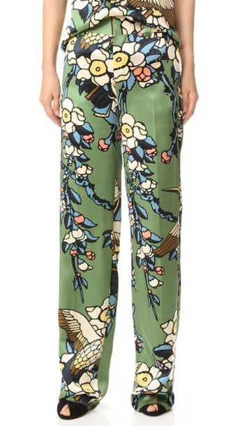 Dsquared2 Cherry Blossom Pants - Green