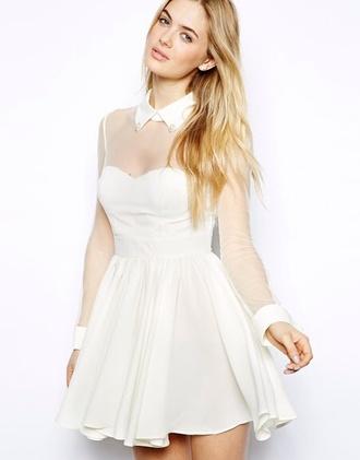 dress white dress collar christmas dress