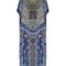 Under the medina moon-print silk kaftan