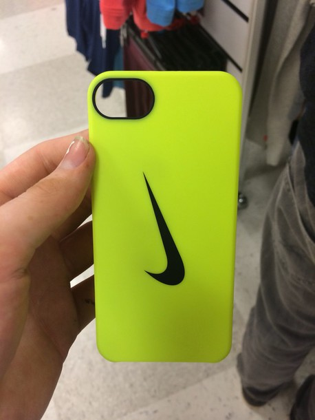 5d50267a59fd phone cover yellow swoosh nike swoosh nike logo nike check phone cover  iphone 5 case
