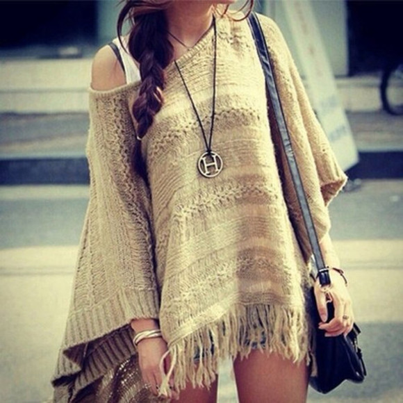 fringes blouse beige native american boho bohem hippie fall outfits gypsy style light lovely outfit trendy hipster