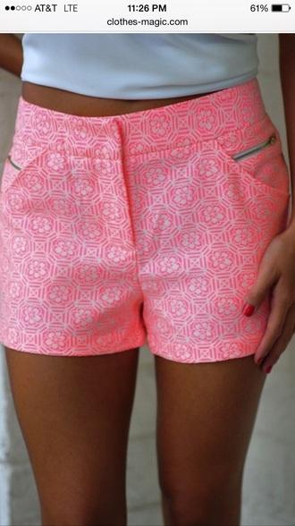 shorts summer shorts tribal shorts tribal pattern pink shorts