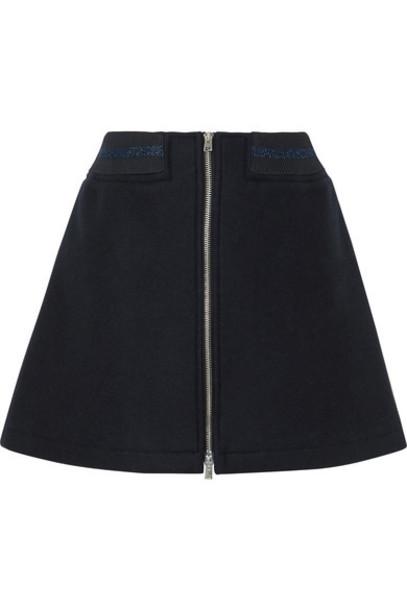A.P.C. Atelier de Production et de Création skirt mini skirt mini metallic navy wool