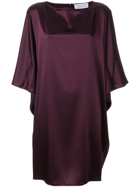 GIANLUCA CAPANNOLO dress shift dress women purple pink