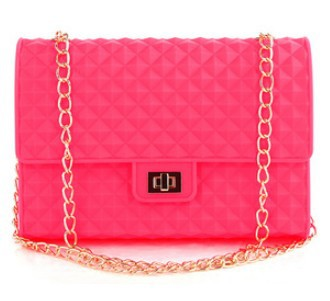 High quality 2013 silica gel chain plaid shoulder bag jelly bag small cross body bag women's handbag Candy color 10 colors B309-in Shoulder Bags from Luggage & Bags on Aliexpress.com