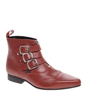 Underground blitz buckled winklepicker boots chez asos
