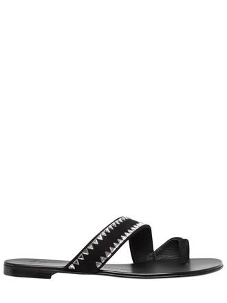 sandals suede black shoes