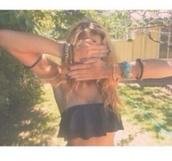 swimwear,bikini,ruffle,black,summer,blonde hair,tumblr,bandeau