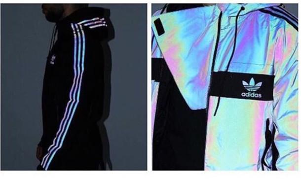 adidas Xeno Windbreaker Jacket (Multicolour Black)