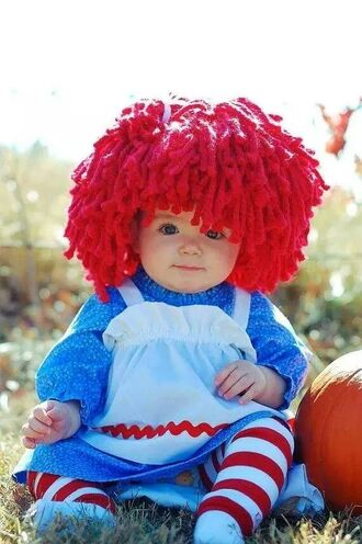 hair accessory halloween baby cute halloween costume halloween accessory red hair high waisted shorts kids fashion sweet chanel