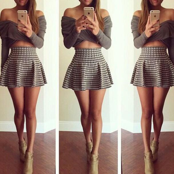 Skirt: style, skater skirt, mini skirt, mini dress ...  Mini