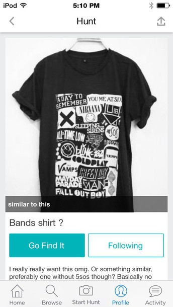 shirt band t-shirt black t-shirt t-shirt