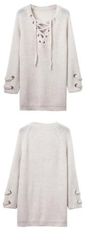 dress,cream,white,lace dress,lace up,lace top,shirt,shirt dress,sweater,sweater dress