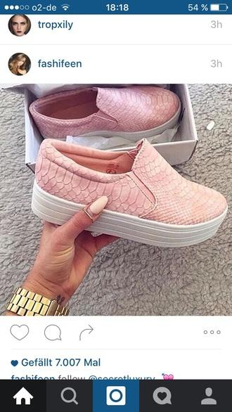 shoes pink snake vans