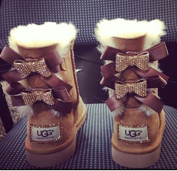 bows uggs sparkly