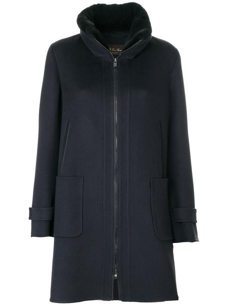 Loro Piana coat fur women blue