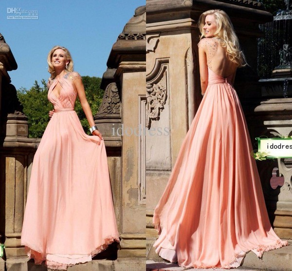 dress pink prom dress long prom dress colorful style