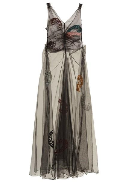 Attico dress tulle dress embellished black