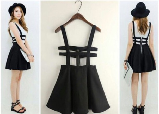 Hot hollow out grid straps dress