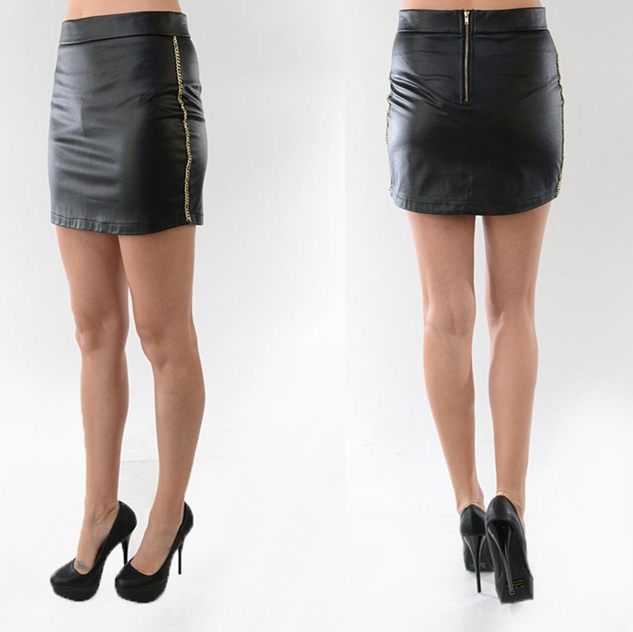 Black leather mini · trendyish · online store powered by storenvy