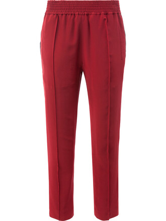 pants cropped pants cropped women silk red