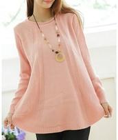 sweater,light pink