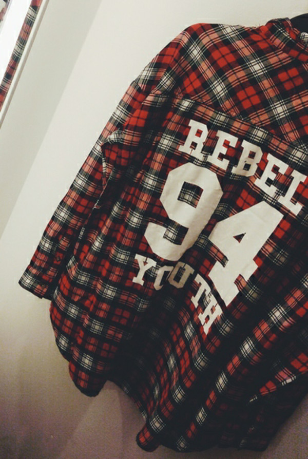 t-shirt flannel 94 rebel