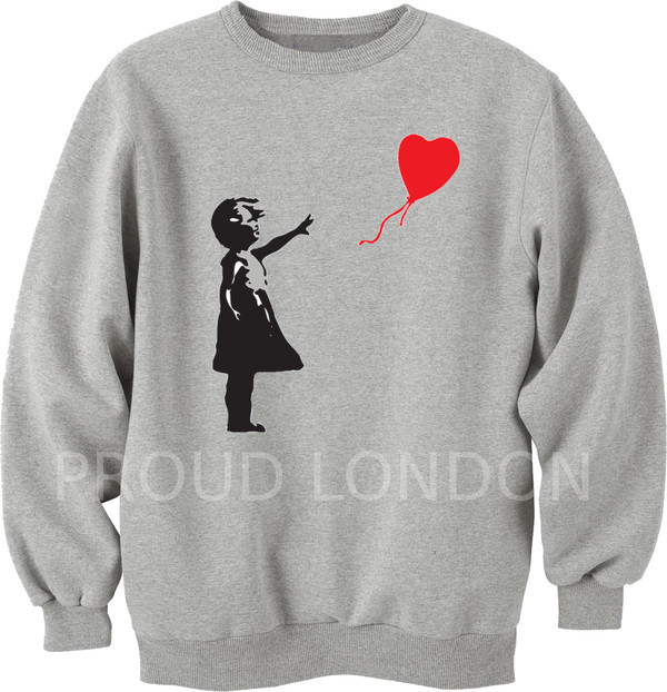 sweater banksy girl sweatshirt