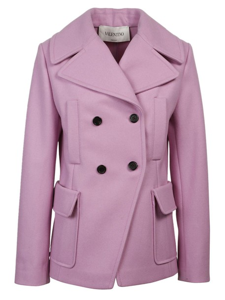 Valentino coat pea coat double breasted