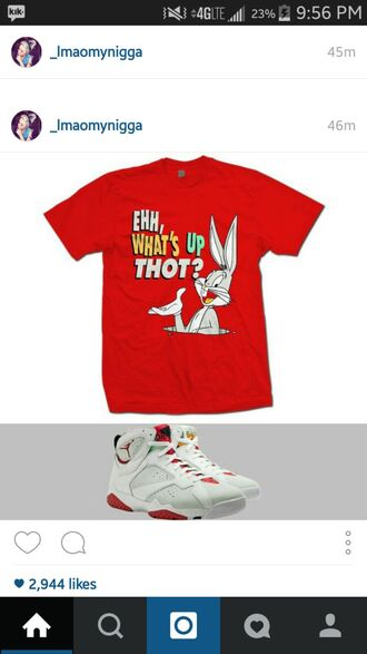 shirt red shirt bugs bunny