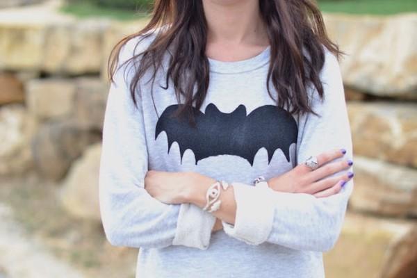 bat grunge cool rad grey pastell goth shirt