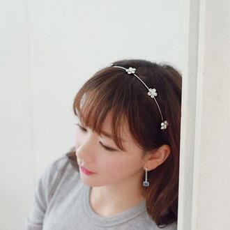 hair accessory casual pearl bowknot rhinestones hair band hair band