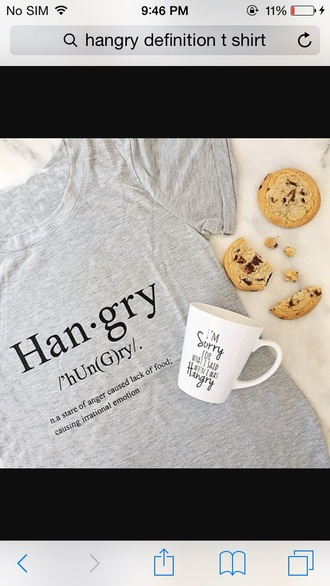 graphic tee grey t-shirt funny funny t-shirt mug quote on it mug food