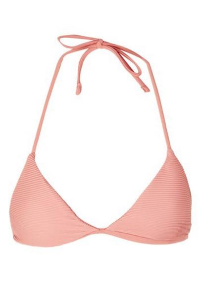 Topshop bikini bikini top triangle bikini triangle blush swimwear