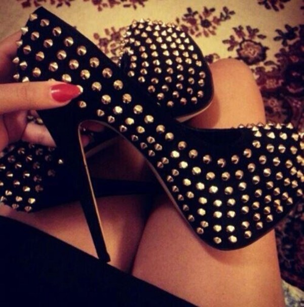 shoes spikes spike heels