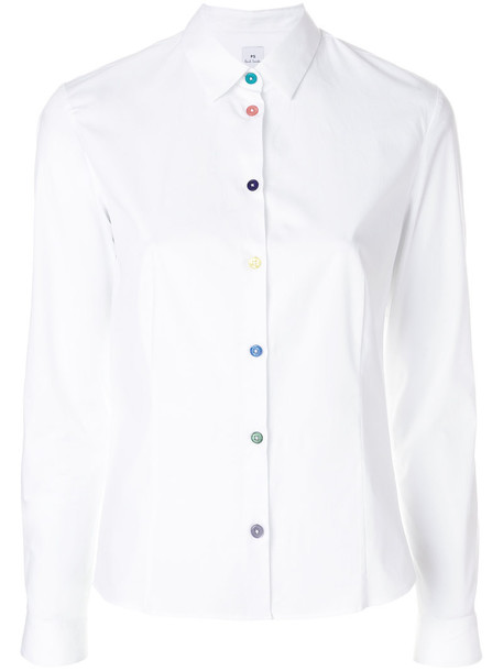 PS By Paul Smith shirt women spandex white cotton top