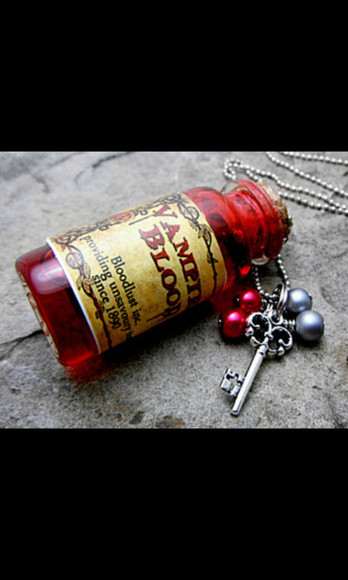 necklace jewels bottle bottle necklace blood vampire vampire blood