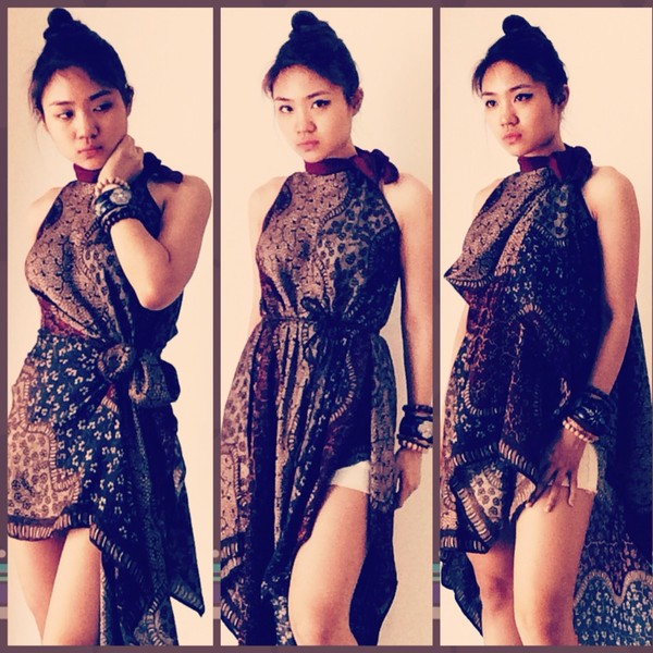 dress brown soka long batik. 2b5e486f61