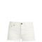 Frayed-hem denim shorts