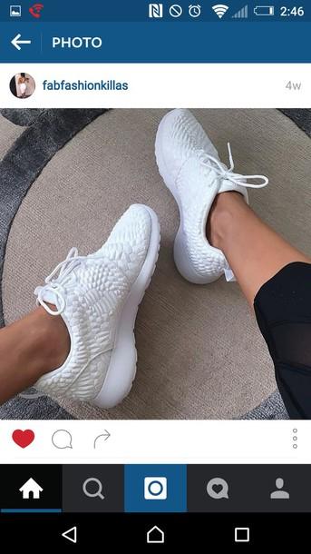 shoes white nike roshe runs roshes nike roshe run print triangle urban style