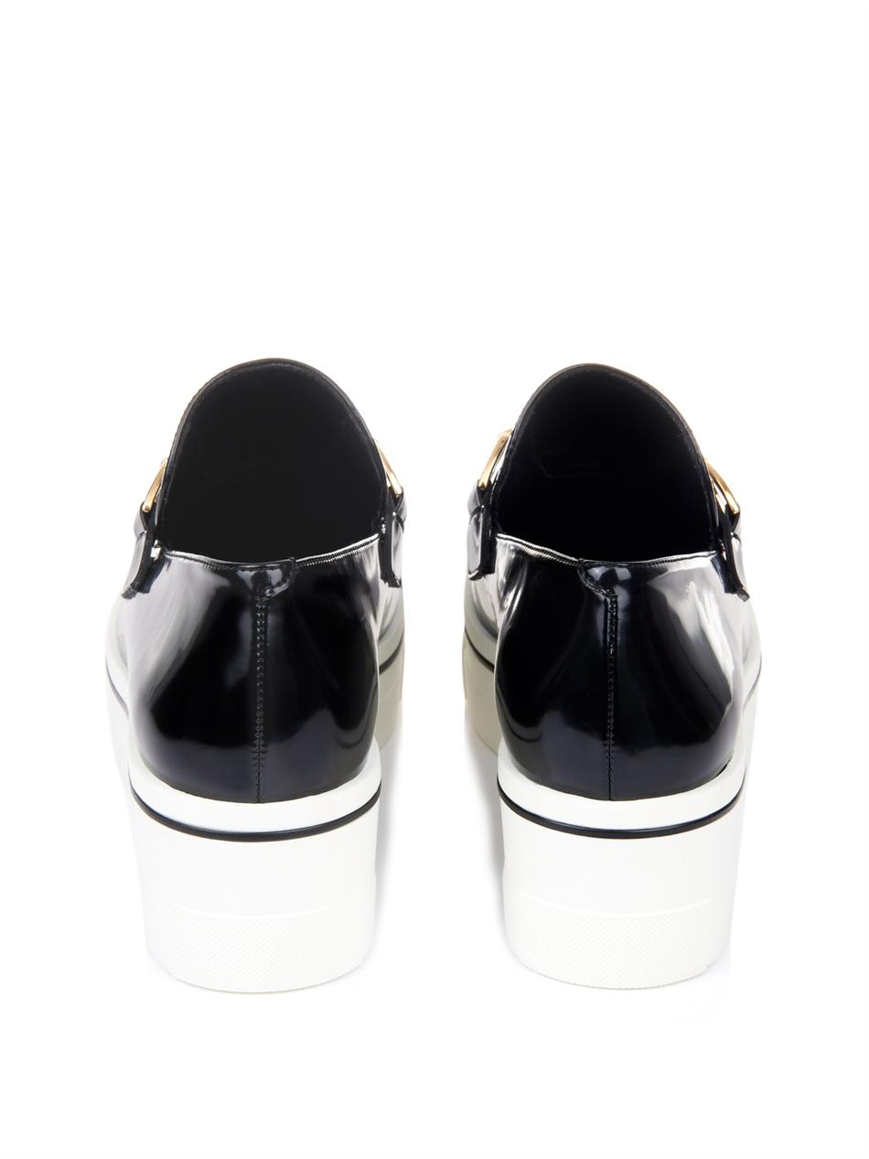 Binx faux-leather platform loafers | Stella McCartney | MATCHE...
