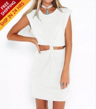dress white twists