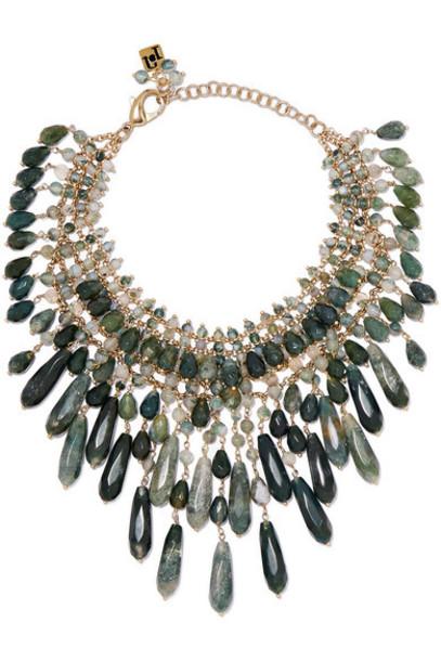 Rosantica necklace gold green jewels