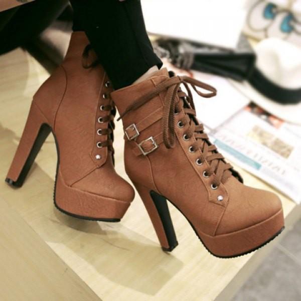 Shoes High Heels Brown Cute Fashion Trendy Women S