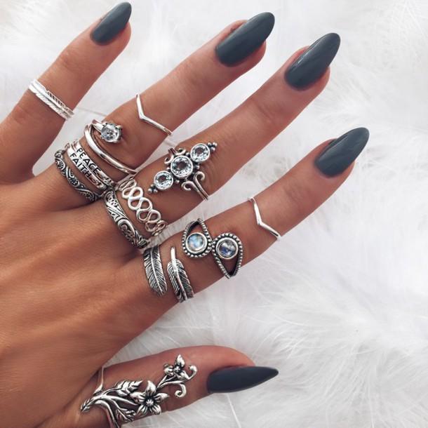 Boho Sterling Silver Rings Uk