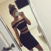 sexy dress,dress,black dress,black sexy dress,the little black dress,girl,girly,fashion,style,clothes,bodycon dress,black